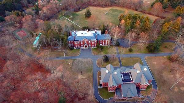 An aerial view of the Upper Brookville estate