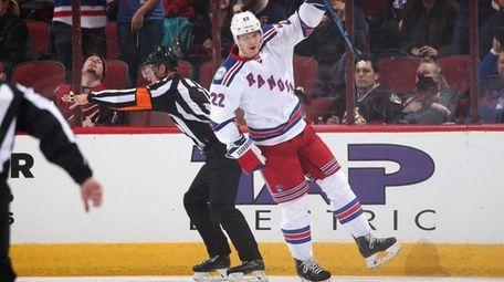 Nick Holden #22 of the New York Rangers