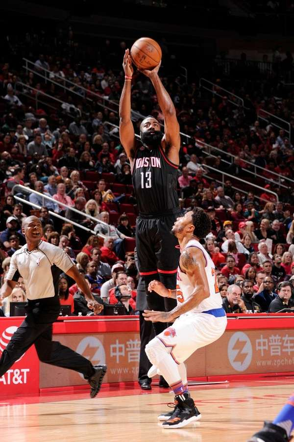 James Harden of the Houston Rockets goes up