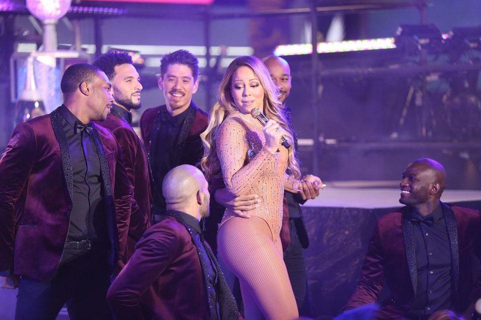 Mariah Carey performs during