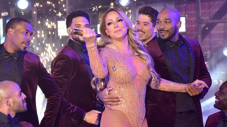 Mariah Carey performs during the New Year's Eve