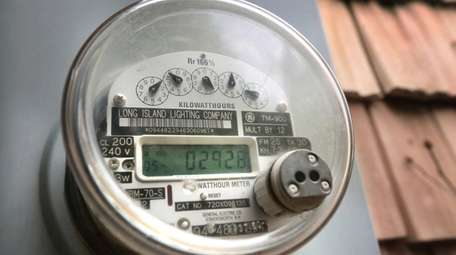 A residential meter in Smithtown, shown on April