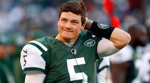 Christian Hackenberg of the New York Jets looks