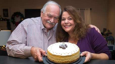 Laurie Barone-Schaefer of Sag Harbor and her dad,