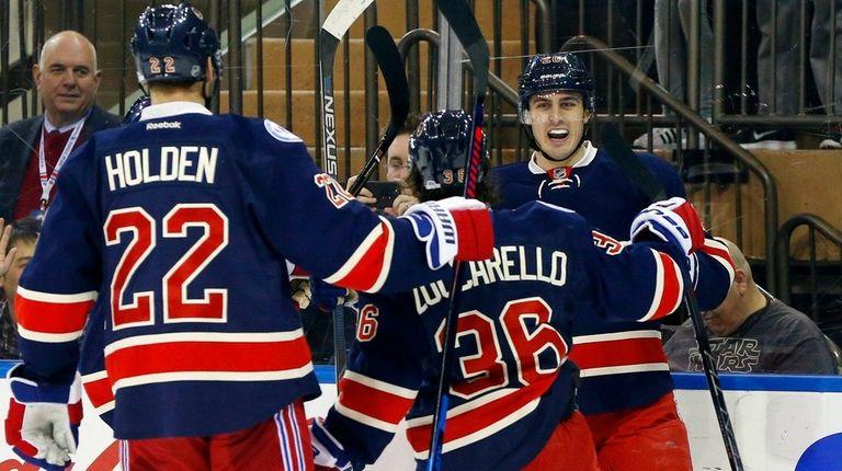 Chris Kreider of the New York Rangers celebrates