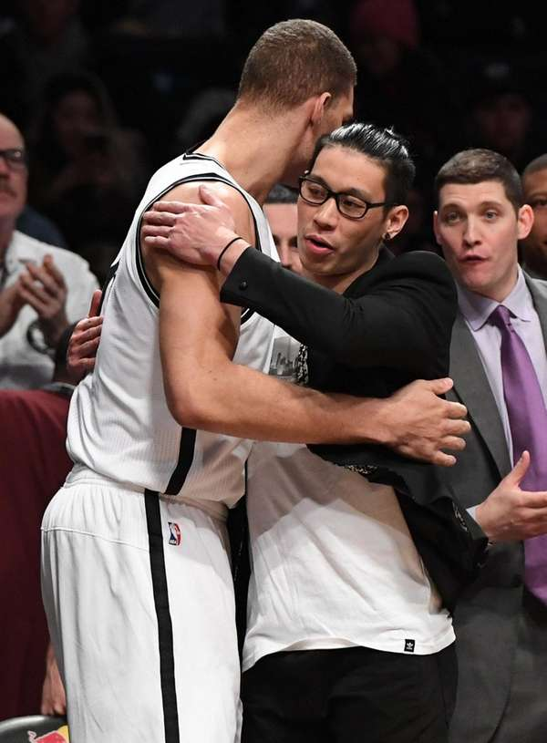 Brooklyn Nets center Brook Lopez and Nets guard