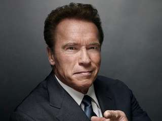 Former California Gov. Arnold Schwarzenegger debuted as the
