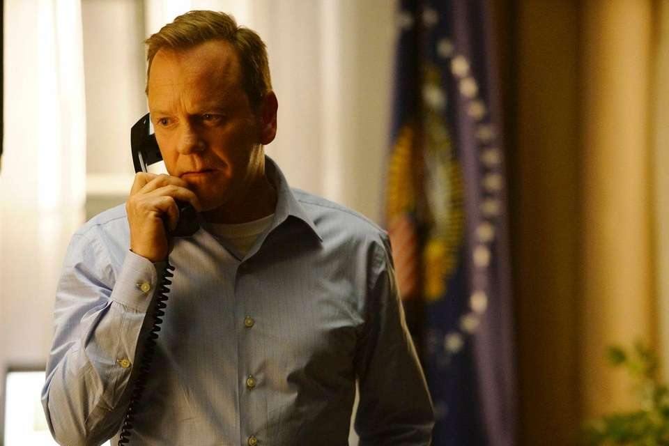 Kiefer Sutherland suddenly finds himself president of the