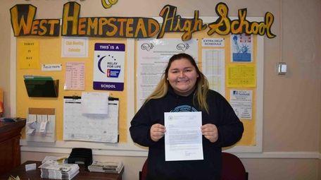 Sofia Gutierrez of West Hempstead High School is