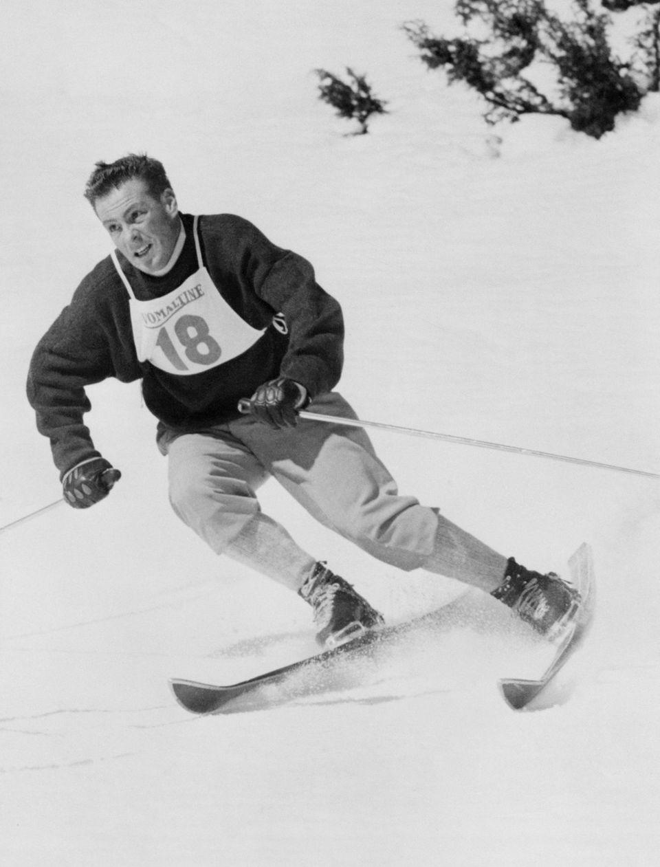 Olympic skiing champion Jean Vuarnet, who helped pioneer