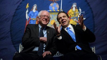 Gov. Andrew M. Cuomo, joined by Sen. Bernie