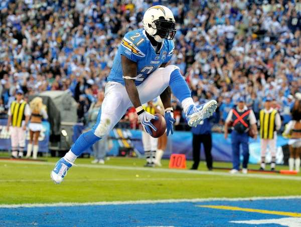 Then-San Diego Chargers running back LaDainian Tomlinson celebrates