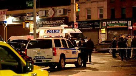 NYPD officers at scene on Atlantic Avenue near