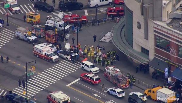 A Long Island Rail Road train hit a
