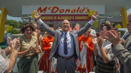Michael Keaton plays a burger king, Ray Kroc,