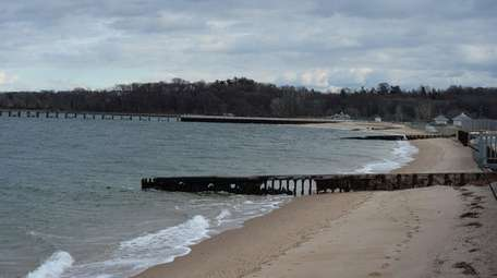 The Glen Cove shoreline looking east on the