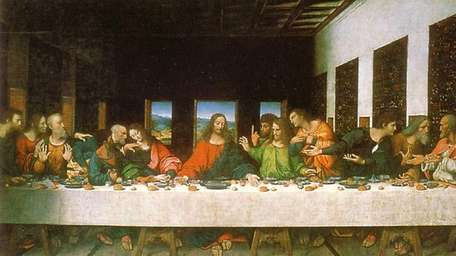 Jesus depicted in Leonardo's