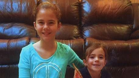 Kidsday reporter Lauren Boland and her younger sister,