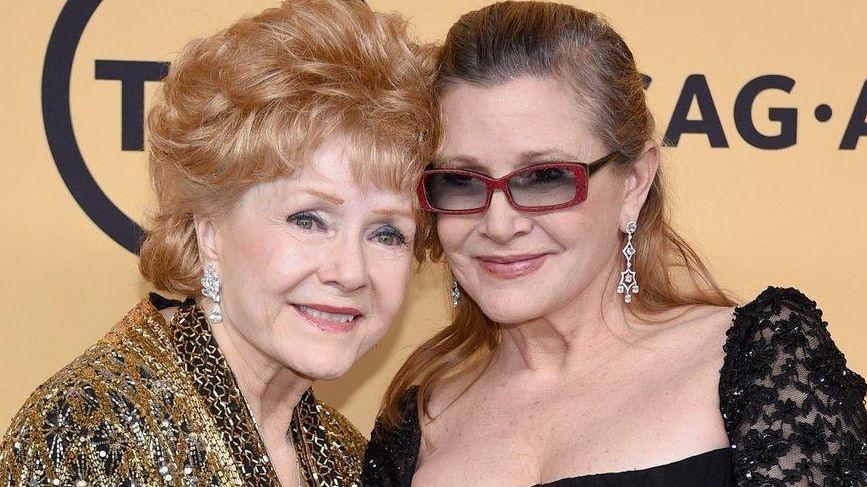 Debbie Reynolds, left, died a day after her