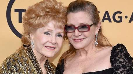 Debbie Reynolds, left, died a day after her