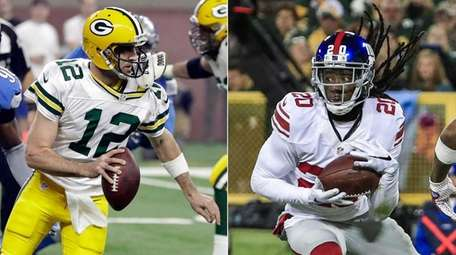 Packers QB Aaron Rodgers and Giants DB Janoris