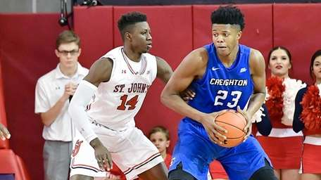 Justin Patton #23 of the Creighton Bluejays is