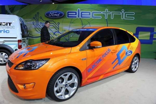 The Ford Focus Electric car is seen in