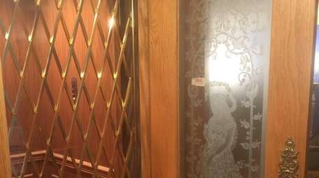 The elevator in this Hewlett Harbor Colonial, on