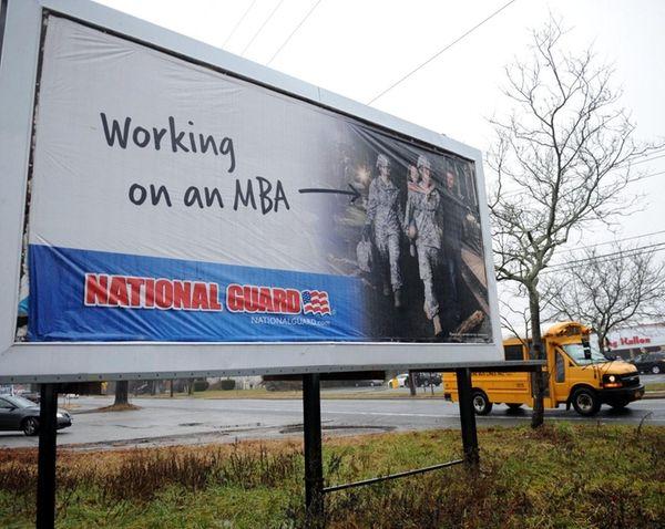 A billboard across the street from King Kullen
