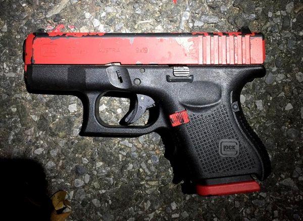 Investigators found a semi-automatic rifle, a 9mm handgun,