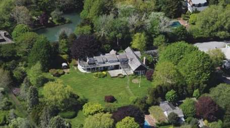 This Amagansett estate sits on 2.3 acres and