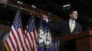 House Speaker Paul Ryan of Wis. speaks during