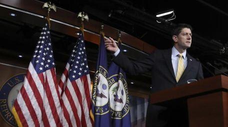 House Speaker Paul Ryan of Wis. speaks during
