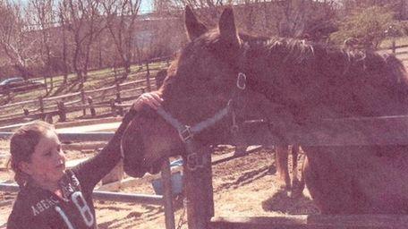Kidsday reporter AnnaMaria Gruppuso at Spirit's Promise Horse