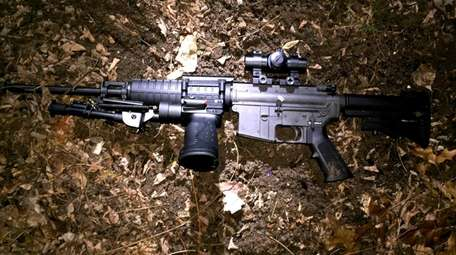 NYPD officers recovered this AR-15 semi-automatic rifle as