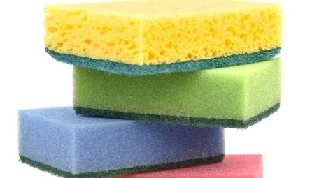 Change household sponges often to avoid germs.