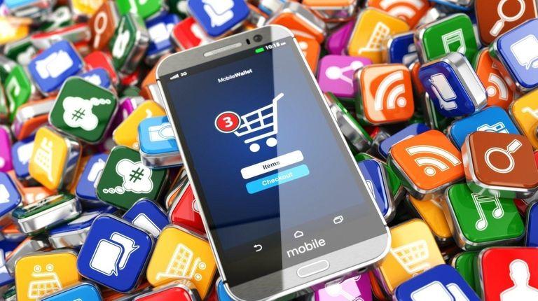 Smartphone shopping app.