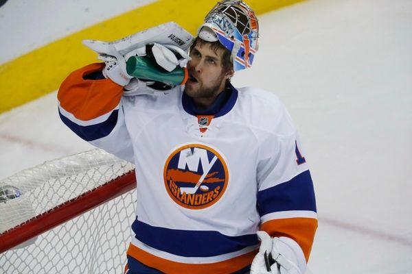 New York Islanders goalie Thomas Greiss, of Germany,