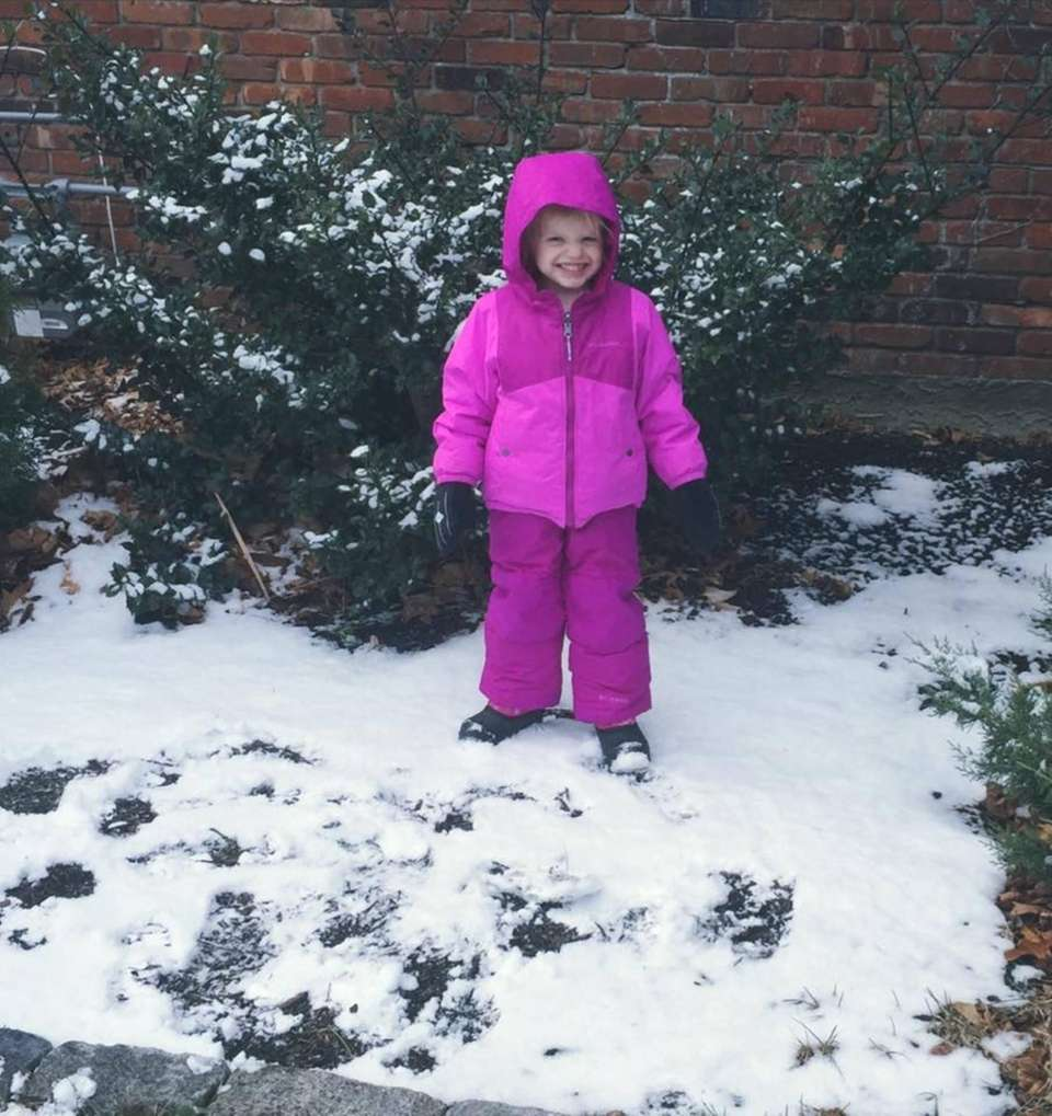 Izzy from Bayville enjoying the first snowfall!