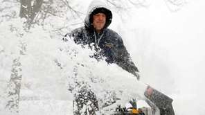 Don't overdo it with the snowblower.