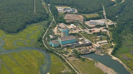 An aerial view of the decommissioned Shoreham nuclear