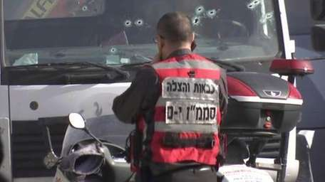 This frame grab from video, shows an Israeli