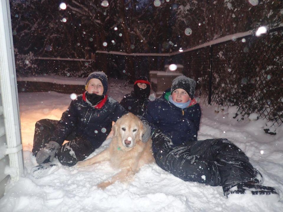 Trevor, Henry, & Owen having fun in the