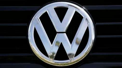 A Volkswagen logo is seen on car offered