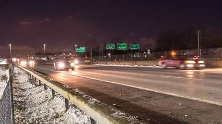 Cars travel east on Sunrise Highway at Brentwood