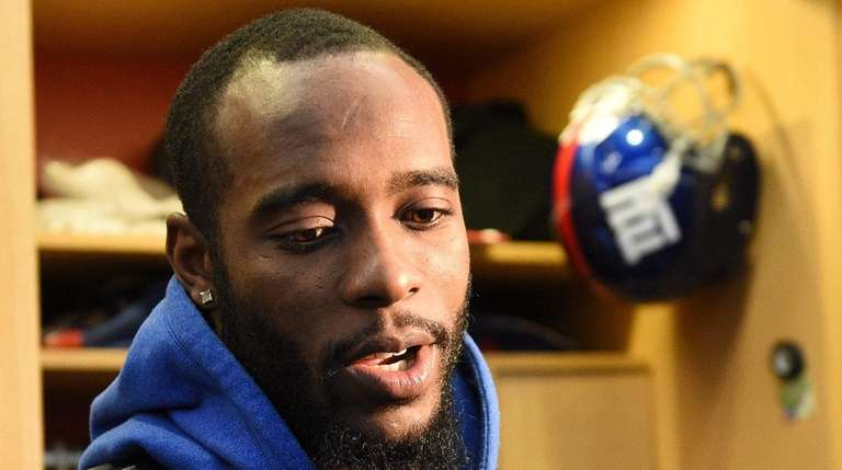 New York Giants cornerback Dominique Rodgers-Cromartie answers questions