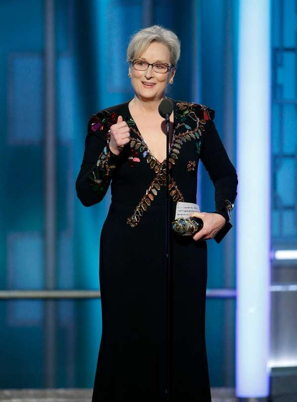 Meryl Streep accepts the Cecil B. DeMille Award