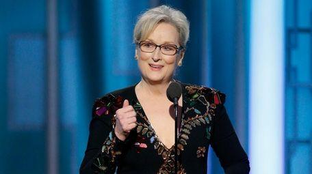 Meryl Streep accepts the Cecil B. DeMille Award