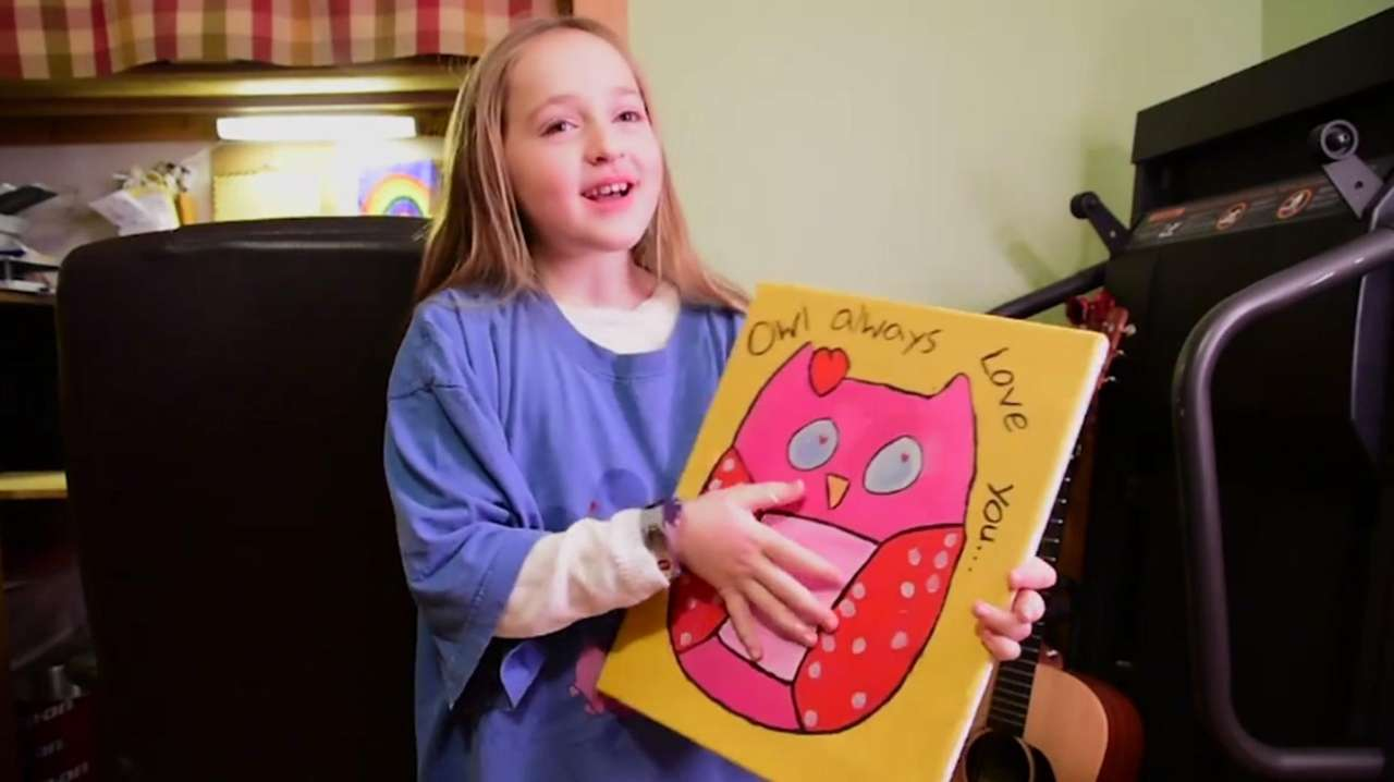 Emma Brussell, 8, of Farmingdale, who has Type