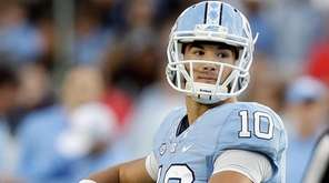 North Carolina quarterback Mitch Trubisky looks to pass